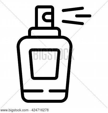 Korean Cosmetics Perfume Icon. Outline Korean Cosmetics Perfume Vector Icon For Web Design Isolated