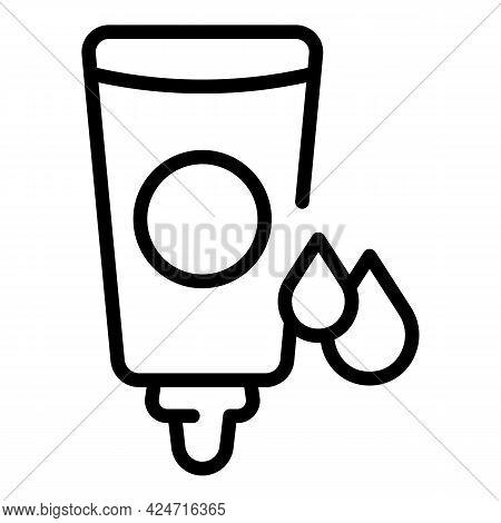 Korean Cosmetics Face Cream Icon. Outline Korean Cosmetics Face Cream Vector Icon For Web Design Iso