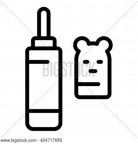 Korean Cosmetics Gel Icon. Outline Korean Cosmetics Gel Vector Icon For Web Design Isolated On White