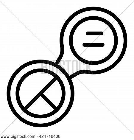 Korean Cosmetics Open Box Icon. Outline Korean Cosmetics Open Box Vector Icon For Web Design Isolate