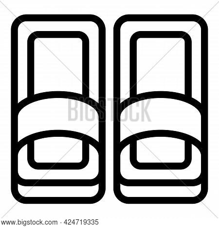Home Slippers Foot Icon. Outline Home Slippers Foot Vector Icon For Web Design Isolated On White Bac