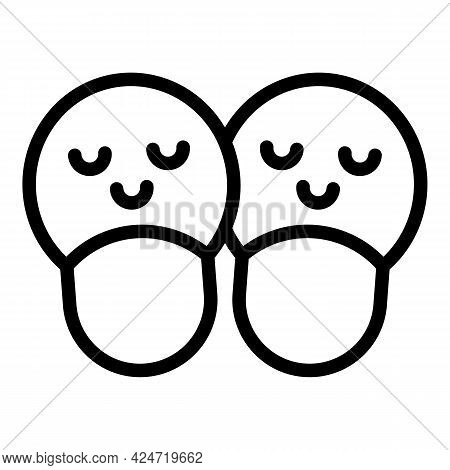 Home Slippers Children Icon. Outline Home Slippers Children Vector Icon For Web Design Isolated On W