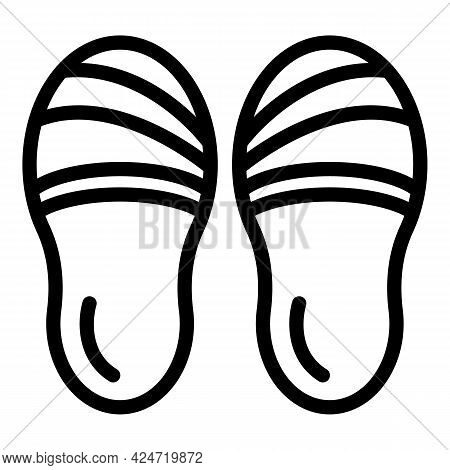 Home Slippers Element Icon. Outline Home Slippers Element Vector Icon For Web Design Isolated On Whi
