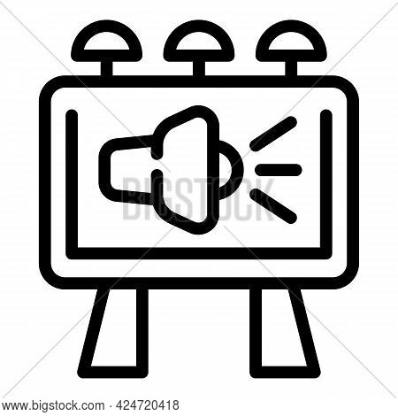 Marketing Billboard Icon. Outline Marketing Billboard Vector Icon For Web Design Isolated On White B