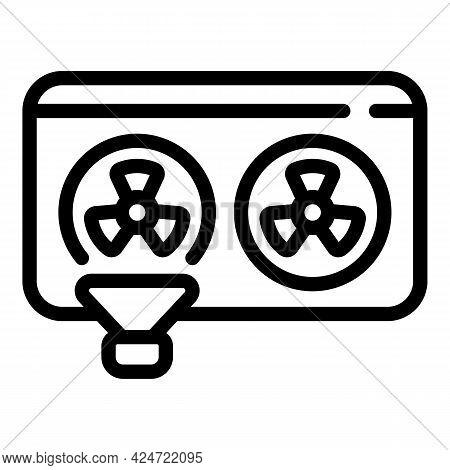 Repair Air Conditioner Hvac Icon. Outline Repair Air Conditioner Hvac Vector Icon For Web Design Iso