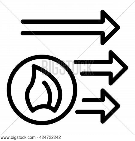 Repair Air Conditioner Warm Mode Icon. Outline Repair Air Conditioner Warm Mode Vector Icon For Web
