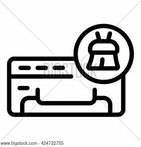 Repair Air Conditioner Brush Icon. Outline Repair Air Conditioner Brush Vector Icon For Web Design I