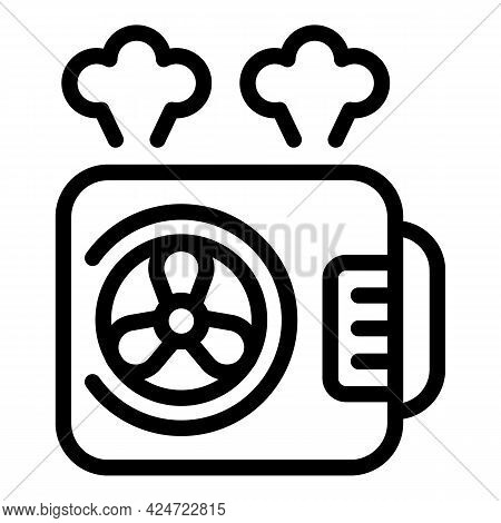 Repair Air Conditioner Thermostat Icon. Outline Repair Air Conditioner Thermostat Vector Icon For We