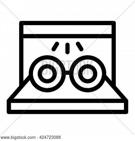 Repair Dishwasher Heater Icon. Outline Repair Dishwasher Heater Vector Icon For Web Design Isolated