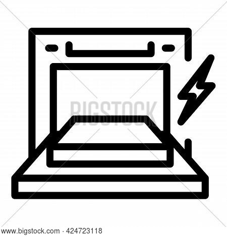 Repair Dishwasher Door Icon. Outline Repair Dishwasher Door Vector Icon For Web Design Isolated On W