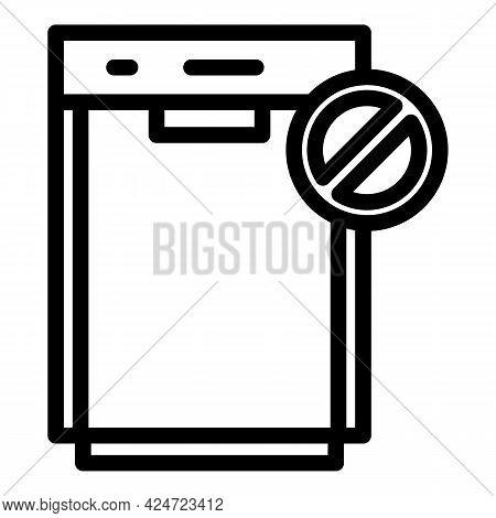 Repair Dishwasher Broken Icon. Outline Repair Dishwasher Broken Vector Icon For Web Design Isolated
