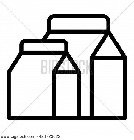 Take Away Milk Food Icon. Outline Take Away Milk Food Vector Icon For Web Design Isolated On White B