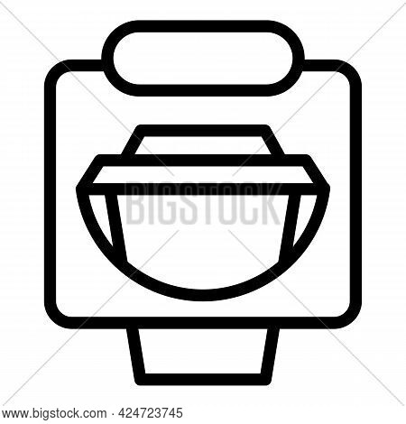 Take Away Coffee Cup Icon. Outline Take Away Coffee Cup Vector Icon For Web Design Isolated On White