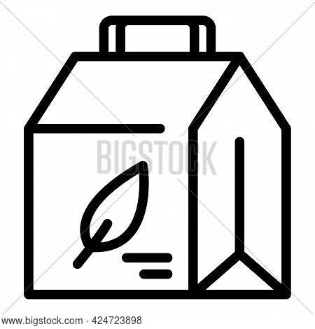 Take Away Bio Food Icon. Outline Take Away Bio Food Vector Icon For Web Design Isolated On White Bac