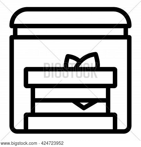 Take Away Food Sandwich Icon. Outline Take Away Food Sandwich Vector Icon For Web Design Isolated On