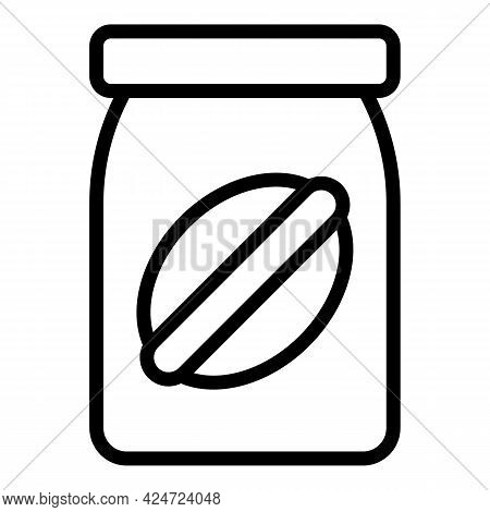 Take Away Food Jar Icon. Outline Take Away Food Jar Vector Icon For Web Design Isolated On White Bac