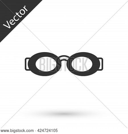 Grey Glasses For Swimming Icon Isolated On White Background. Swimming Goggles. Diving Underwater Equ