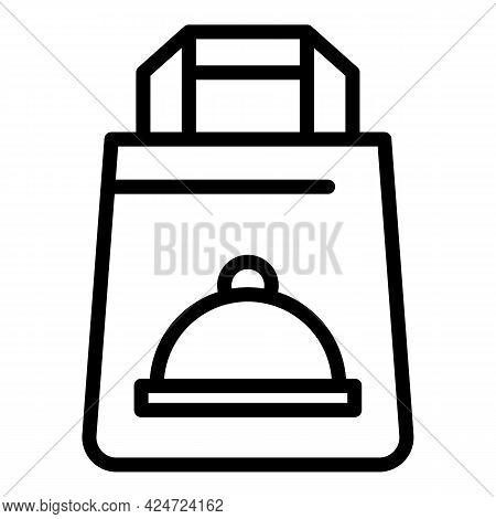 Take Away Sushi Bag Icon. Outline Take Away Sushi Bag Vector Icon For Web Design Isolated On White B