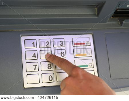 Numeric Keypad To Enter The Pin To Access The Bank S Atm Functions