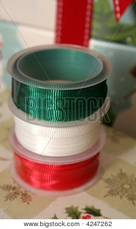 Christmas Ribbon Spools