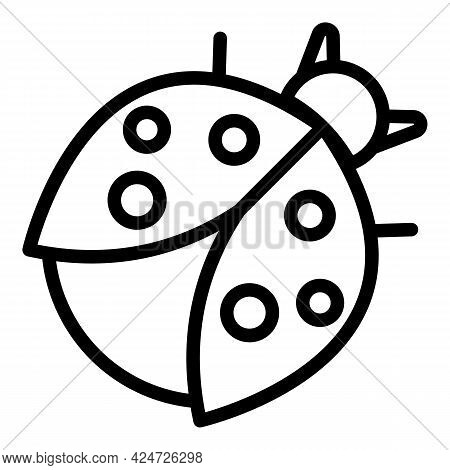 Ladybird Beauty Icon. Outline Ladybird Beauty Vector Icon For Web Design Isolated On White Backgroun