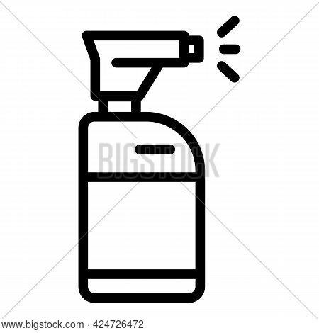 Spray Bottle Cleaner Icon. Outline Spray Bottle Cleaner Vector Icon For Web Design Isolated On White