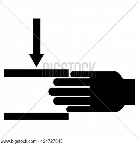 Beware Of Crushing Hand Symbol Isolate On White Background,vector Illustration Eps.10