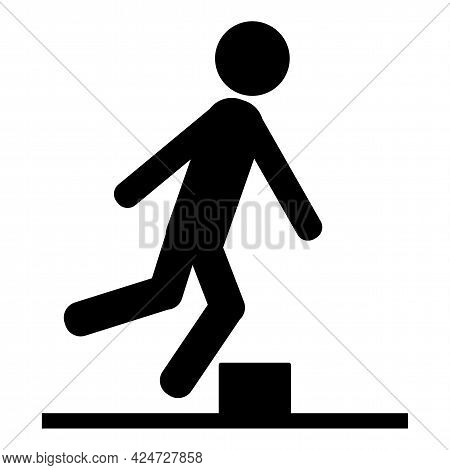Caution Beware Obstacles Symbol Isolate On White Background