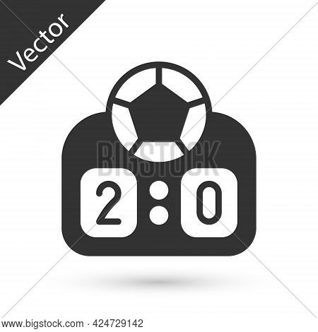 Grey Sport Mechanical Scoreboard And Result Display Icon Isolated On White Background. Vector