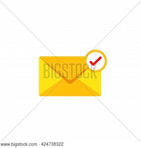 Received Email Message Vector Icon. Filled Flat Sign For Mobile Concept And Web Design. Envelope Mai