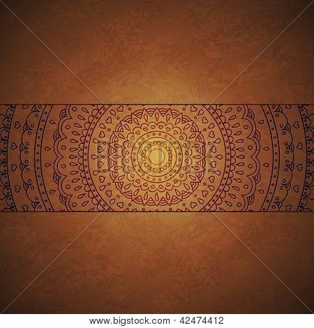 Vintage mandala ornament cover