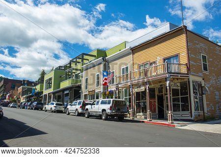 Park City, Ut, Usa - Jun. 20, 2018: Historic Commercial Building At 355 - 361 Main Street At 4th Str