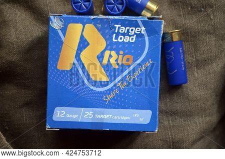 12 gauge caliber ammo RIO (buckshot)  24 June 2021, Kiev Region,Ukraine