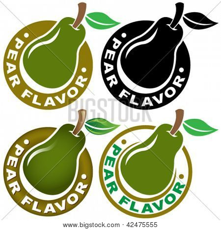 Pear Flavor Seal / Mark