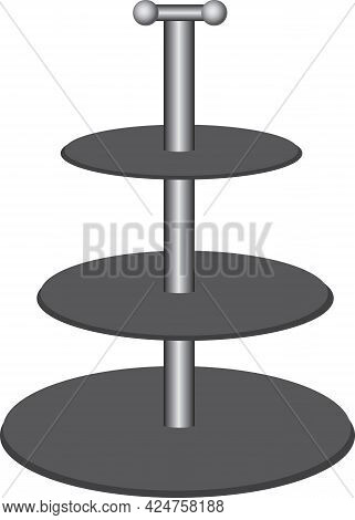 Multi-tier Stone Shelf For Fruits And Snacks. Round Surface Stand