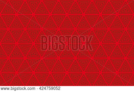 Triangle Red Pattern Seamless Striped Pattern Design For Background,wallpaper,print,website,package,