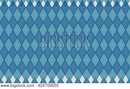 Abstract Geometric Pattern. Diamond Shape Light Blue Modern Style For Background,carpet,wallpaper,cl