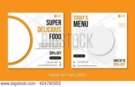 Food Menu Social Media Banner Design Template