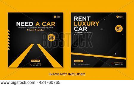 Rent Car Social Media Banner Design Template