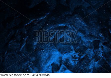 Cute Blue Old Brilliant Textured Stone Texture - Abstract Photo Background