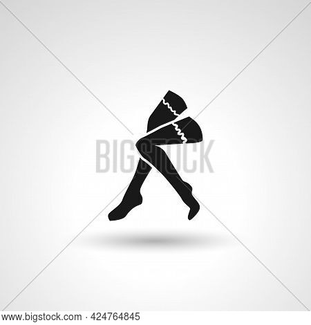 Woman Legs Sign. Legs Isolated Simple Vector Icon