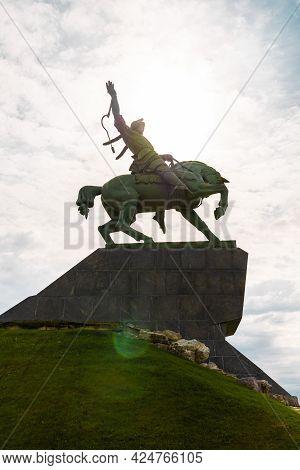 Ufa, Russia - 15 June 2021: Salawat Yulayev Memorial In Ufa - The Biggest Statue Of Horseman In Euro
