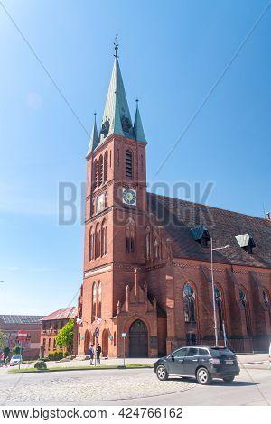 Koscierzyna, Poland - May 31, 2021: Roman Catholic Church Of The Resurrection Of The Lord.