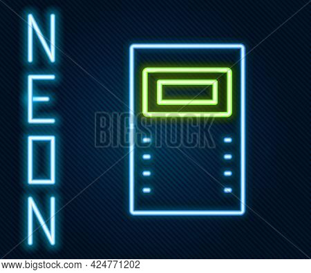 Glowing Neon Line Police Assault Shield Icon Isolated On Black Background. Colorful Outline Concept.