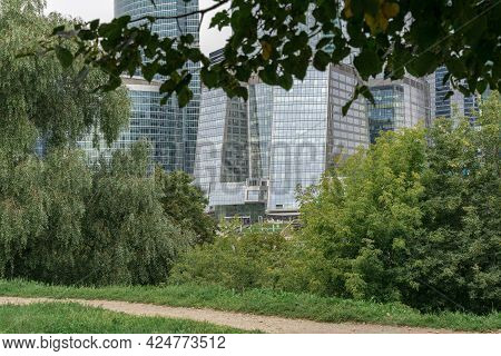 09.05.2020 Moscow, Russia. View Of The Moscow International Business Center From The Quay Of Taras S