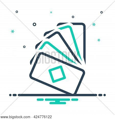 Mix Icon For Cards Game Poker Casino Gambler Playing