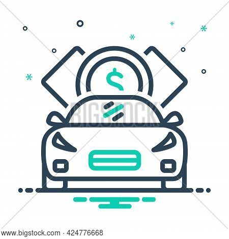 Mix Icon For Loan Indebtedness Debt Minus Loaning Borrow Car