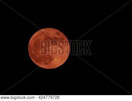 Strawberry Moon In Summer On June 24, 2021 Harvest Moon Full Moon