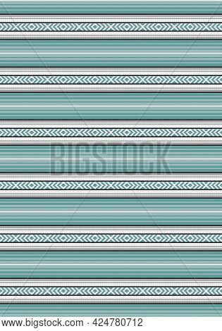 Traditional Mexican Blanket. Ethnic Seamless Pattern. Colorful Stripes Background. Serape Design. Ci