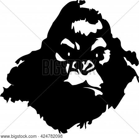 King Kong Vector Illustration On Background , Strong, Tattoo, Teeth, Tough